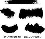 vector set of grunge brush... | Shutterstock .eps vector #1017994060