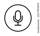 microphone icon in circle | Shutterstock .eps vector #1017994594