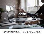 gdpr. data protection... | Shutterstock . vector #1017996766