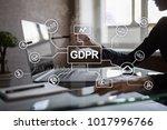 gdpr. data protection...   Shutterstock . vector #1017996766
