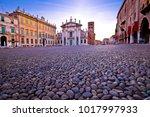mantova city piazza sordello...   Shutterstock . vector #1017997933