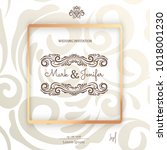 elegant wedding card ... | Shutterstock .eps vector #1018001230