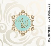 elegant wedding card ... | Shutterstock .eps vector #1018001236