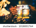 friendship and celebration... | Shutterstock . vector #1018001764