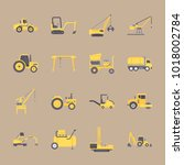 icons construction machinery... | Shutterstock .eps vector #1018002784
