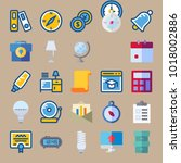 icons education and school with ... | Shutterstock .eps vector #1018002886