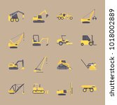 icons construction machinery... | Shutterstock .eps vector #1018002889