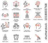 vector set of linear icons... | Shutterstock .eps vector #1018003768