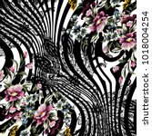 Stock photo animal print leopard texture background flower pattern 1018004254