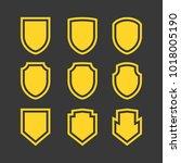 vector shield icon  flat design ...   Shutterstock .eps vector #1018005190