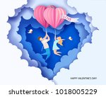 valentines day card. abstract... | Shutterstock .eps vector #1018005229