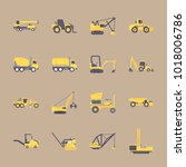 icons construction machinery... | Shutterstock .eps vector #1018006786