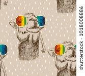vector sketch of camel with...   Shutterstock .eps vector #1018008886