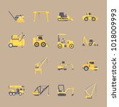 icons construction machinery... | Shutterstock .eps vector #1018009993