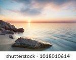 seascape during sundown....   Shutterstock . vector #1018010614