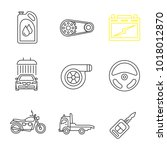 auto workshop linear icons set. ... | Shutterstock .eps vector #1018012870