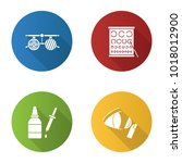 ophtalmology flat design long... | Shutterstock .eps vector #1018012900