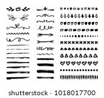 hand drawn borders  brackets ... | Shutterstock .eps vector #1018017700
