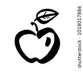 apple vector sketch icon... | Shutterstock .eps vector #1018017886