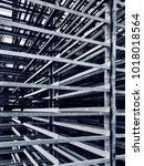 Small photo of Abstract aluminium racks