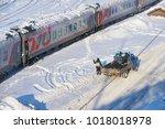 moscow  feb. 01  2018  winter...   Shutterstock . vector #1018018978