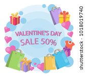 valentines day sale... | Shutterstock .eps vector #1018019740