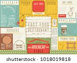 fast food restaurant placemat   ... | Shutterstock .eps vector #1018019818