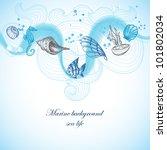 sea background  marine fauna...   Shutterstock .eps vector #101802034