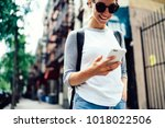 cropped view of cheerful... | Shutterstock . vector #1018022506