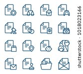 set of documents icons. vector... | Shutterstock .eps vector #1018023166