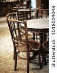 antique wooden chair and table | Shutterstock . vector #1018024048