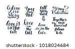 happy valentine's day hand... | Shutterstock .eps vector #1018024684