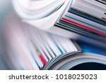 magazine close up   Shutterstock . vector #1018025023