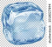 one big realistic translucent... | Shutterstock .eps vector #1018027894