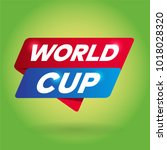 world cup arrow tag sign. | Shutterstock .eps vector #1018028320