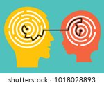 child psychologist and child... | Shutterstock .eps vector #1018028893