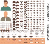 vector illustration of man face ... | Shutterstock .eps vector #1018029550