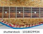 sombrero hat and guitar....   Shutterstock . vector #1018029934
