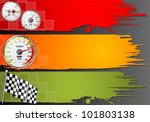 three speed frame with detailed ... | Shutterstock .eps vector #101803138