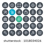 thin line cryptocurrency icons... | Shutterstock .eps vector #1018034026