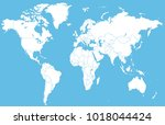 world map vector | Shutterstock .eps vector #1018044424