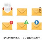 email icon set. envelope. mail... | Shutterstock .eps vector #1018048294