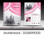 annual report cover design ... | Shutterstock .eps vector #1018049320