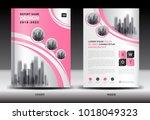 annual report cover design ... | Shutterstock .eps vector #1018049323