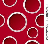 seamless round pattern. circle... | Shutterstock .eps vector #1018053478