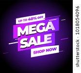 sale banner template design ... | Shutterstock .eps vector #1018054096