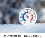 thermometer with celsius scale... | Shutterstock . vector #1018055530