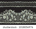 vector seamless border in... | Shutterstock .eps vector #1018056976