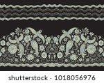 vector seamless border in... | Shutterstock .eps vector #1018056976