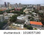 panaramic view from above of... | Shutterstock . vector #1018057180